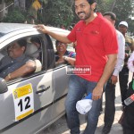 Actor Karthi at O2 Car Rally for the Blind